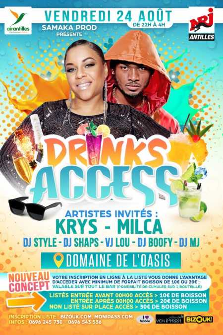 Krys, Milca - Drinks access