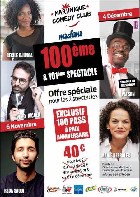 Martinique Comedy Club - Novembre et Décembre 2018