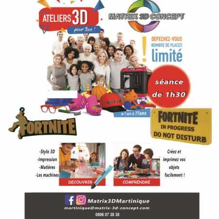 Atelier impression 3D ( Fortnite... )