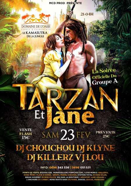 Tarzan et Jane la soirée officielle du Groupe A