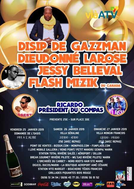 Disip de Gazzman couleur, Marius Modeste, Dieudonné Larose et Flash Mizik - 2701B
