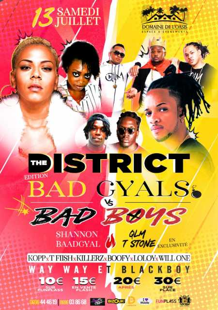 THE DISTRICT  Ed BAD BOYS  Vs  BAD GYALS