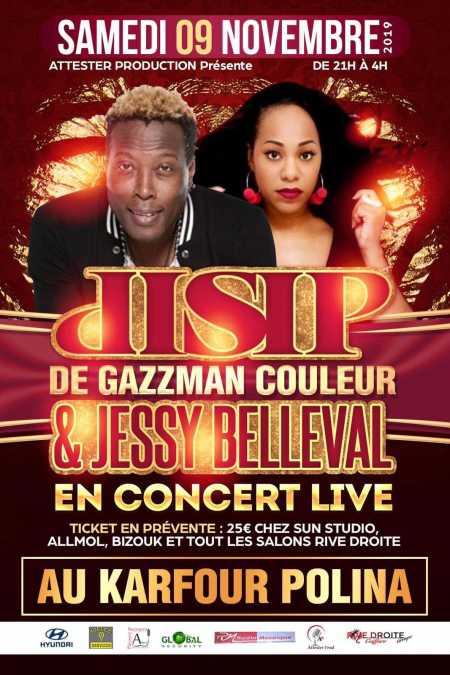 DISIP et JESSY BELLEVAL en Concert Live en Guyane